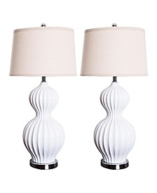 Akua Fluted Table Lamp, Set of 2