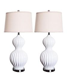 Akua Fluted Table Lamp, Set of 2