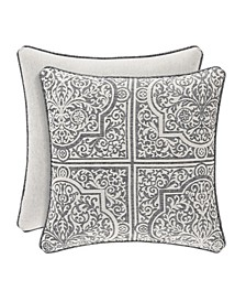 "J Queen Matteo 20"" Square Decorative Throw Pillow"