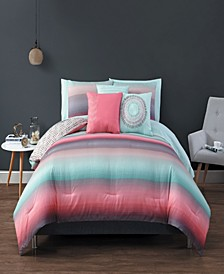 Cypress 10pc Queen Reversible Comforter Set