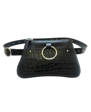 Accessories Modern Geometric Croco Embossed Belt Bag