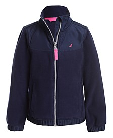Little Girls Mock-Neck Polar Fleece Zip-Up Jacket