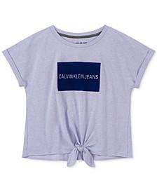 Big Girls Logo-Print Tie-Front T-Shirt