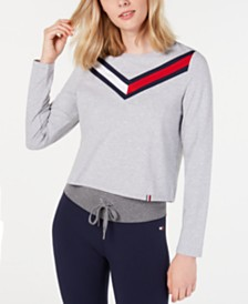 Tommy Hilfiger Varsity-Stripe Cropped Top