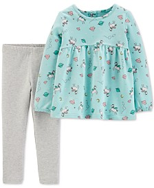 Carter's Toddler Girls 2-Pc. Unicorn-Print Top & Leggings Set
