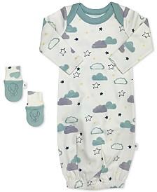 finn + emma Baby Girls 2-Pc. Organic Cotton Dumbo Sleep Gown & Mitts Set