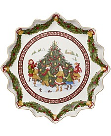 Toy's Fantasy Deep Pastry Plate: Dance Around the Tree