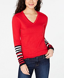 Cotton Solid & Striped Sweater, Created for Macy's