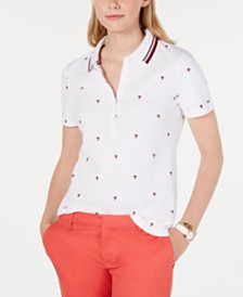 Tommy Hilfiger Cotton Heart-Print Polo Shirt, Created for Macy's