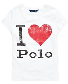 Polo Ralph Lauren Big Girls Jersey Cotton Shirt