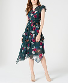 Calvin Klein Surplice Floral Dress
