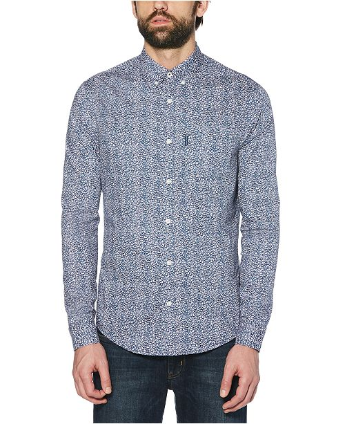 Original Penguin Men's Stretch Ditsy Floral Shirt