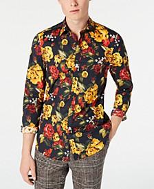 Men's Slim-Fit Golden Rose Shirt