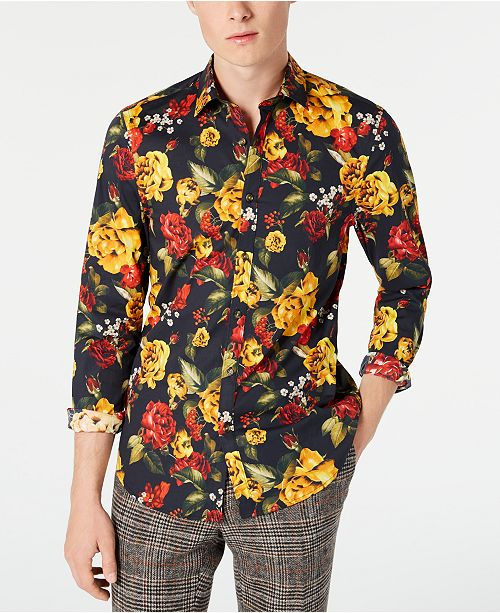 Paisley & Gray Men's Slim-Fit Golden Rose Shirt