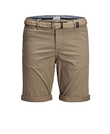 Men's Summer Chino Printed Shorts with Belt