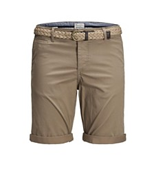 Jack & Jones Men's Summer Chino Printed Shorts with Belt