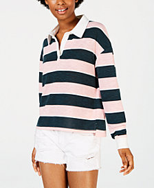 Crave Fame Juniors' Rugby Striped Top