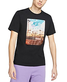 Men's Photo Graphic Basketball T-Shirt