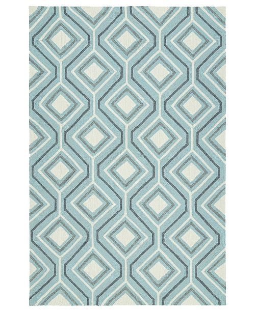 "Kaleen Escape ESC04-17 Blue 5' x 7'6"" Area Rug"