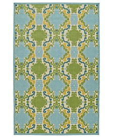 "A Breath of Fresh Air FSR101-17 Blue 2'1"" x 4' Area Rug"