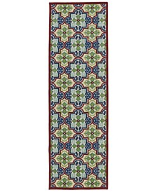 "A Breath of Fresh Air FSR104-86 Multi 2'6"" x 7'10"" Runner Rug"