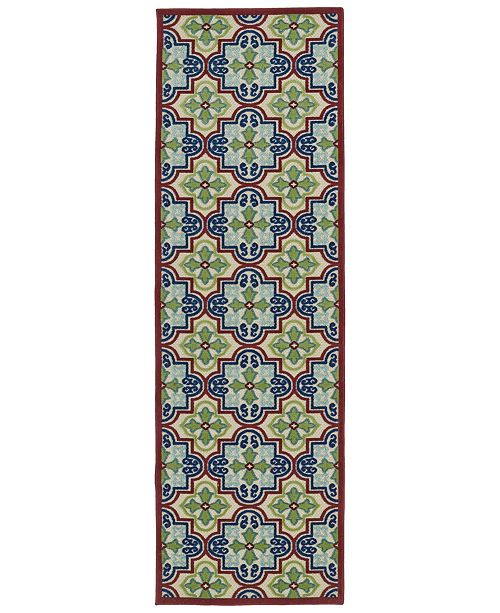 "Kaleen A Breath of Fresh Air FSR104-86 Multi 2'6"" x 7'10"" Runner Rug"