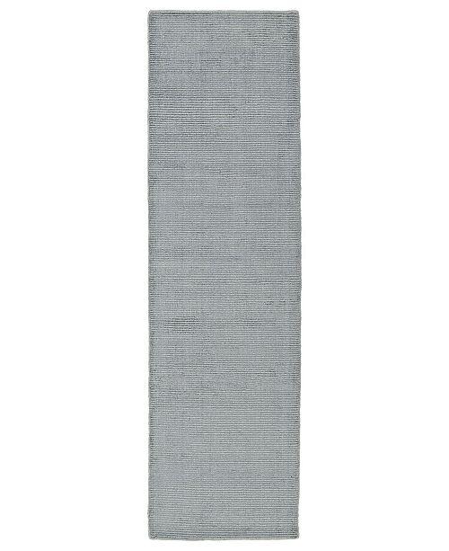 "Kaleen Luminary LUM01-77 Silver 2'3"" x 8' Runner Rug"