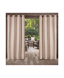 "Exclusive Home Delano Indoor/Outdoor Grommet Top 54"" X 120"" Curtain Panel Pair"