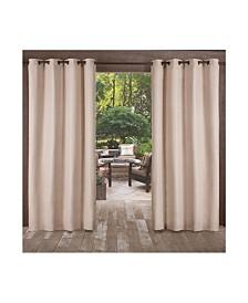 """Exclusive Home Delano Indoor/Outdoor Grommet Top 54"""" X 120"""" Curtain Panel Pair"""