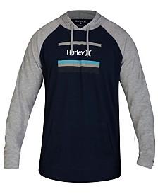 Hurley Men's Color Bars Logo Graphic Hoodie