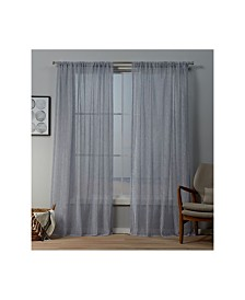 "Exclusive Home Itaji Sheer Rod Pocket Top 54"" X 96"" Curtain Panel Pair"