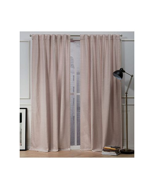 "Exclusive Home Nicole Miller Mellow Slub Textured Hidden Tab Top 54"" X 84"" Curtain Panel Pair"