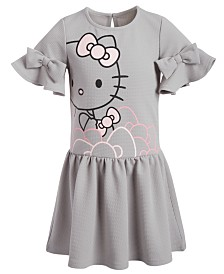 Hello Kitty Toddler Girls Waffle-Knit Bow Dress