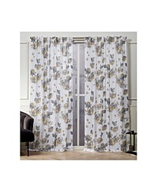 "Nicole Miller Kristy Floral Cotton Hidden Tab Top 50"" X 84"" Curtain Panel Pair"