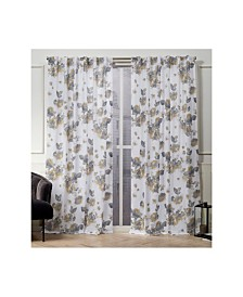 "Nicole Miller Kristy Floral Cotton Hidden Tab Top 50"" X 96"" Curtain Panel Pair"