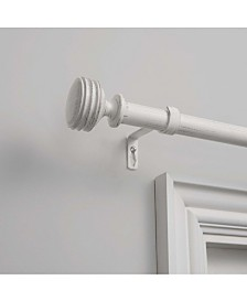 """Exclusive Home Duke 1"""" Curtain Rod and Coordinating Finial Set, Adjustable 36""""-72"""""""