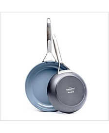 "Paris Pro 8"" & 10"" Ceramic Non-Stick Fry Pan Set"