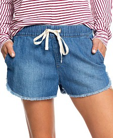 Roxy Juniors' Cotton Drawstring Denim Shorts