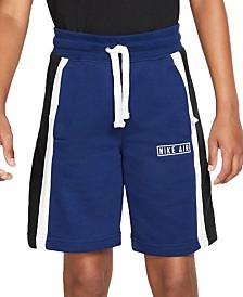 Nike Big Boys Air Logo Striped Shorts