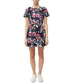 French Connection Linosa Printed Cotton Dress