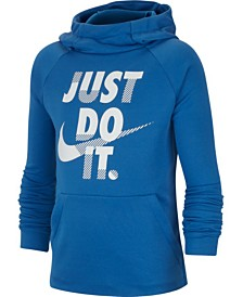 Nike Big Boys Dri-FIT Training Just Do It Graphic Hoodie