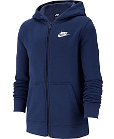 Nike Big Boys Fleece Logo Zip-Up Hoodie