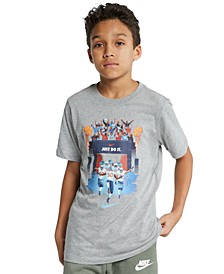 Big Boys Football Photo Graphic T-Shirt