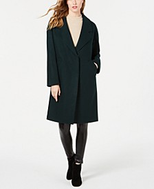 Single Breasted Drop Shoulder Wool Coat