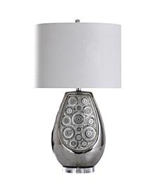 Selsey Silver 31in Ceramic Body Table Lamp