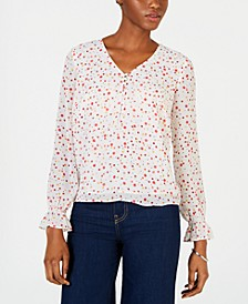 Printed V-Neck Blouse, Created for Macy's