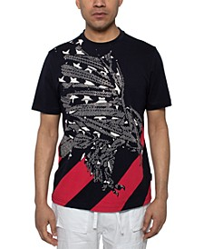 Men's Beaded Eagle T-Shirt