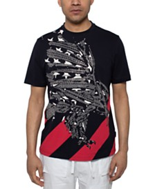 Sean John Men's Beaded Eagle T-Shirt