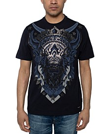 Men's Beaded Bison T-Shirt