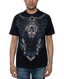 Sean John Men's Beaded Bison T-Shirt